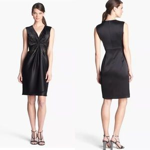 St. John | Black Sequined Caviar Dress 14 NWT